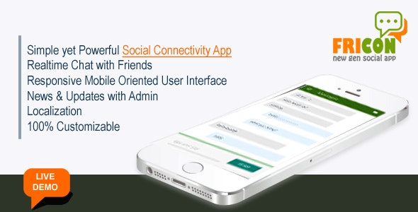 Fricon Social Networking and Chat App - CodeCanyon Item for Sale