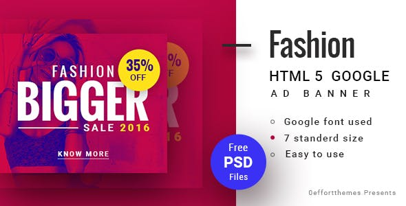 GWD  | Fashion discount HTML Banner 02