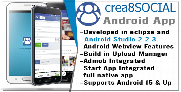 Crea8social Android Template App