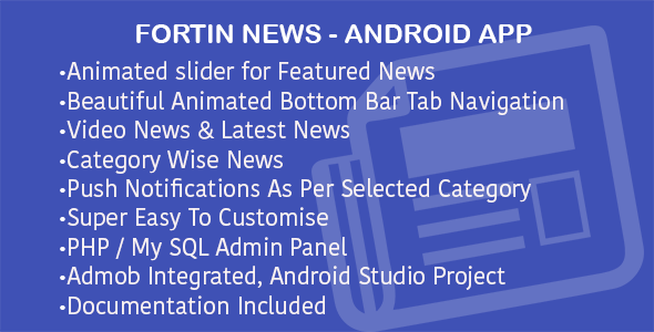 Fortin News with PHP Backend with Push Notification - CodeCanyon Item for Sale