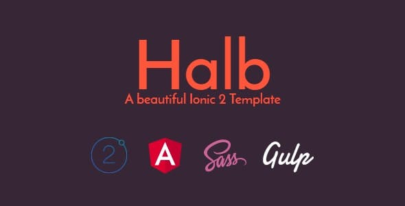 Halb - An Ionic 2 template with WordPress