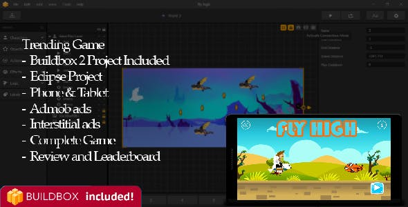 Fly High Buildbox 2 Complete Project and IOS Project