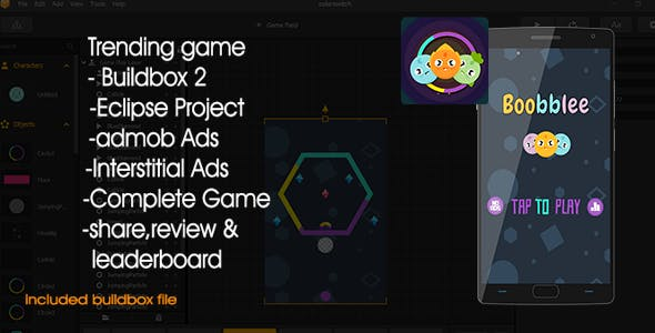 Boobblee - Color Switch Buildbox 2 Complete Project and Xcode Project