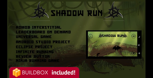 Shadow Run Buildbox 2 Complete Project and Xcode Project - CodeCanyon Item for Sale