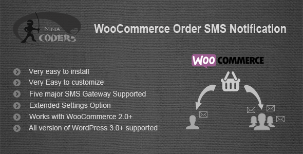 WooCommerce Order SMS Notification - CodeCanyon Item for Sale