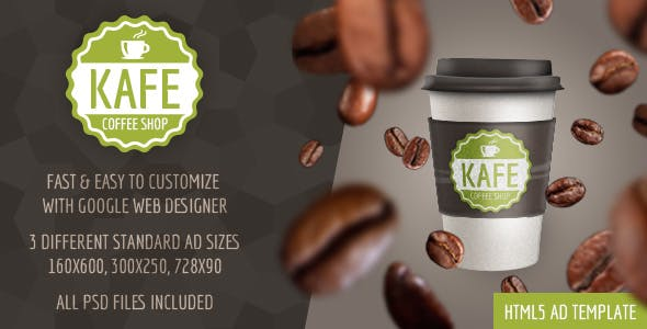Kafe - HTML5 Coffee Shop Ad Template