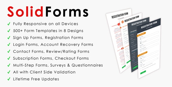 SolidForms | CSS3 Responsive Forms - CodeCanyon Item for Sale