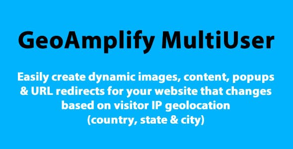 Geoamplify multi-user/SaaS