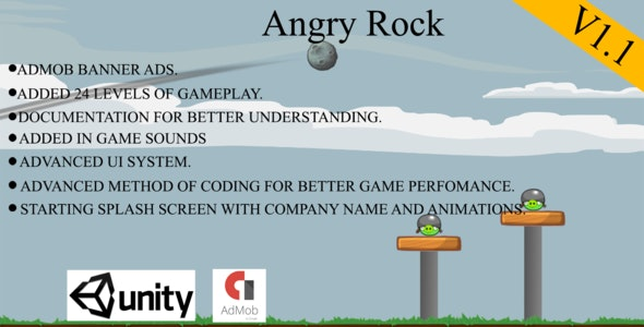 Angry Rock-Angry Birds Style Game With Admob - CodeCanyon Item for Sale
