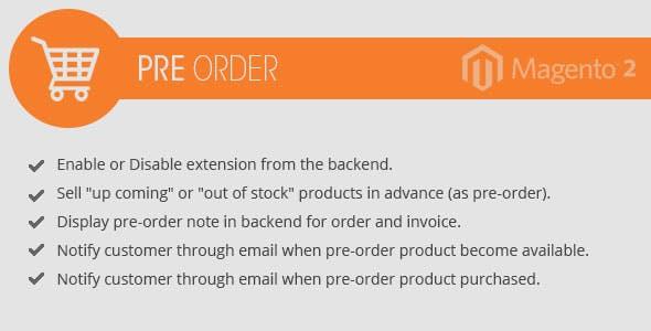 Pre-Order  Magento 2 extension
