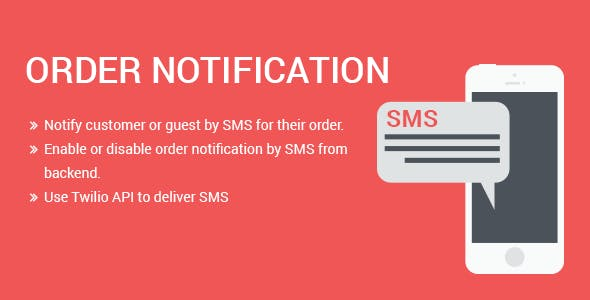 SMS  Order Notification Magento 2 extension