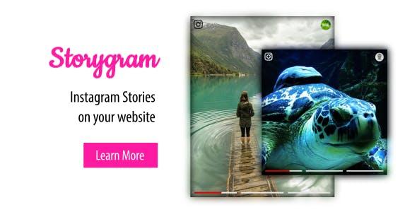 Instagram Widget for website | Storygram Instagram Plugin - CodeCanyon Item for Sale
