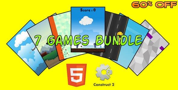 7 HTML5 Games Bundle (Construct 2 - CAPX)