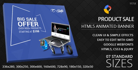 Product Sale - HTML5 Ad Banners - CodeCanyon Item for Sale