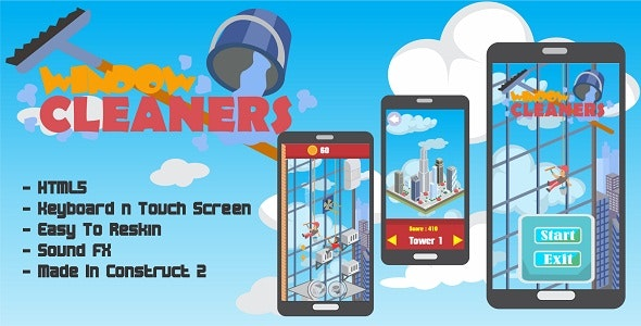 Window Cleaner - HTML5 Arcade Game - CodeCanyon Item for Sale