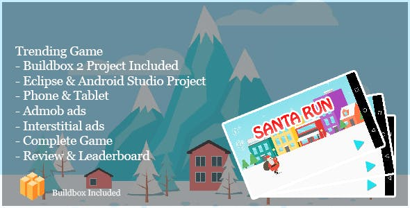 Santa Run - Complete Buildbox Project + Eclipse & Android Studio Project