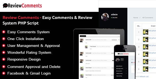 Review Comments – Easy Comments & Review System PHP Script - CodeCanyon Item for Sale