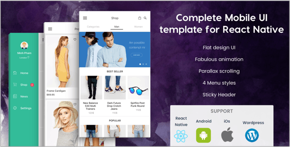 BeoStore - Complete Mobile UI template for React Native - CodeCanyon Item for Sale