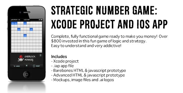 Strategic Number Game Xcode project and App