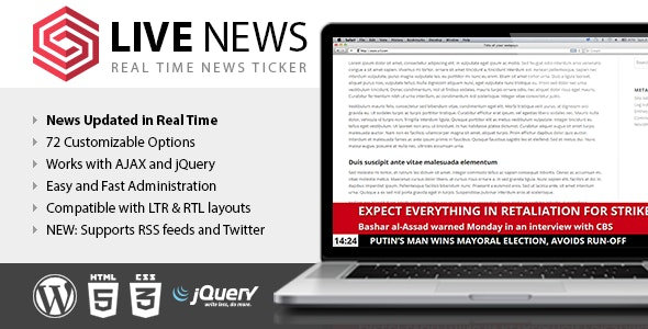 Live News - Real Time News Ticker by DAEXT | CodeCanyon