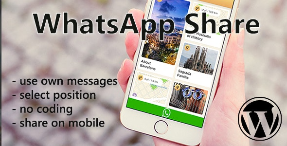 WhatsApp Mobile Share for WordPress - CodeCanyon Item for Sale