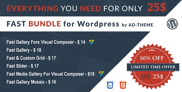 Fast Bundle by AD-Theme - Wordpress Bundle Plugin