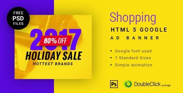 Online shopping - HTML Animated Banner 11