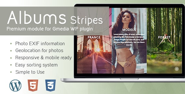 Albums Stripes v1.9 | Gallery Module for Gmedia plugin - CodeCanyon Item for Sale