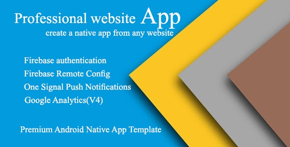 Android Professional Webview App With Firebase Backend And