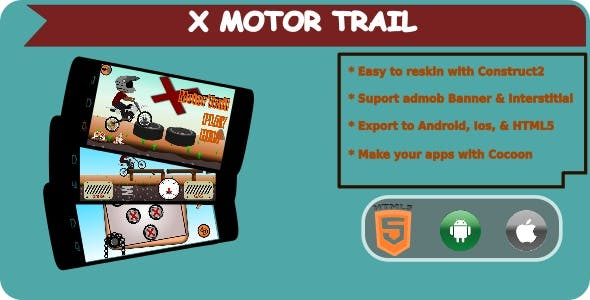X Motor Trail - HTML5 Mobile Game + Admob