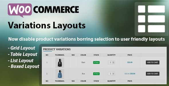 WooCommerce Product Variations Layouts - CodeCanyon Item for Sale