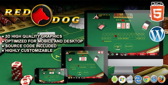 Red Dog - HTML5 Casino Game