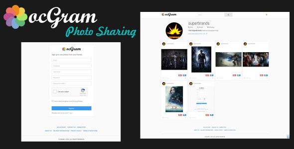 ocGram - Photo Sharing - CodeCanyon Item for Sale