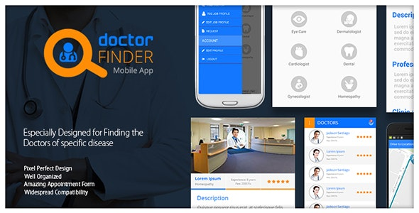 Online Doctor Finder Mobile App by bluehorntech | CodeCanyon