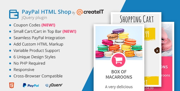 jQuery Paypal HTML Shop - CodeCanyon Item for Sale