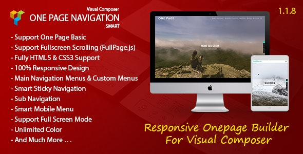 Smart One Page Navigation - Addon For Visual Composer - CodeCanyon Item for Sale