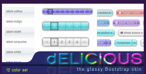 Delicious - the glassy gradient Bootstrap skin - CodeCanyon Item for Sale