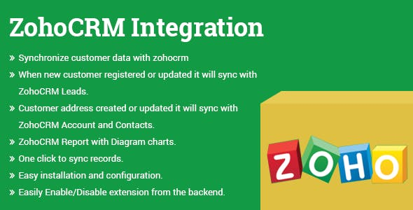 ZohoCRM Integration Magento 2