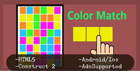 Color Match (HTML5 Game + Construct 2 CAPX) - CodeCanyon Item for Sale