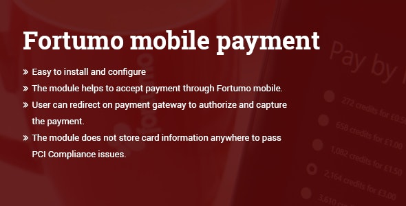 Fortumo mobile payment Magento 2 extension - CodeCanyon Item for Sale