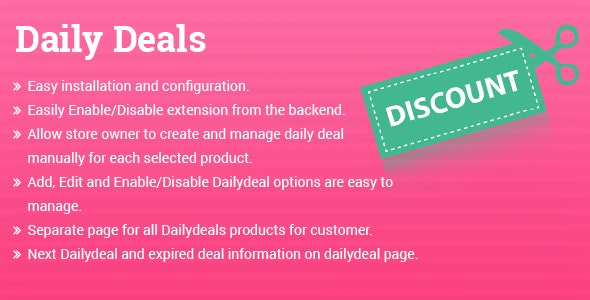 Daily Deals Magento 2 extension - CodeCanyon Item for Sale