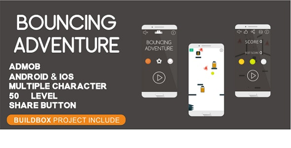 Bouncing Adventure - Android Studio & IOS Project (Buildbox Include) - CodeCanyon Item for Sale