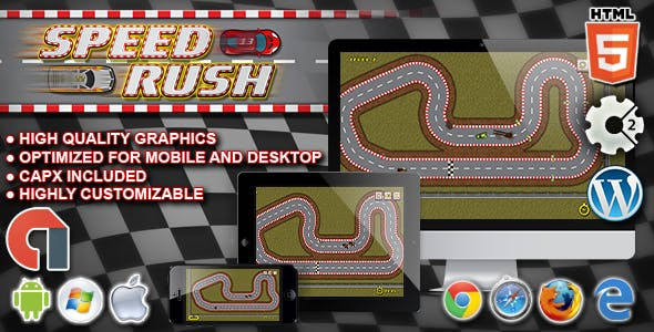 Speed Rush - HTML5 Construct Racing Game