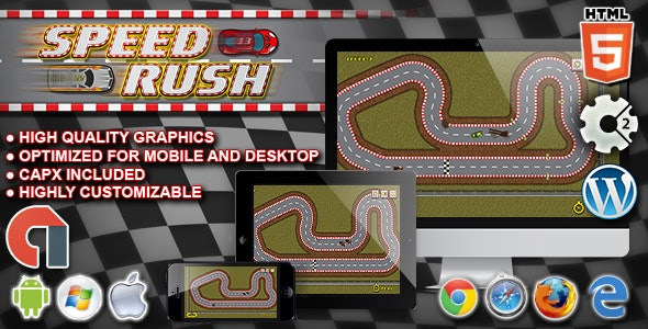 Speed Rush - HTML5 Construct Racing Game - CodeCanyon Item for Sale