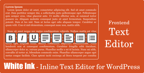 White Ink - Inline Text Editor for WordPress - CodeCanyon Item for Sale