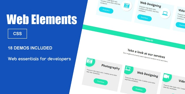 Web Elements – Services Snippets - CodeCanyon Item for Sale