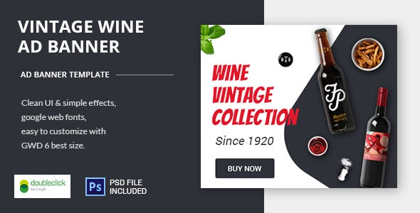 Wine - HTML Animated Banner