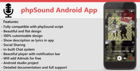 phpSound Android App - CodeCanyon Item for Sale