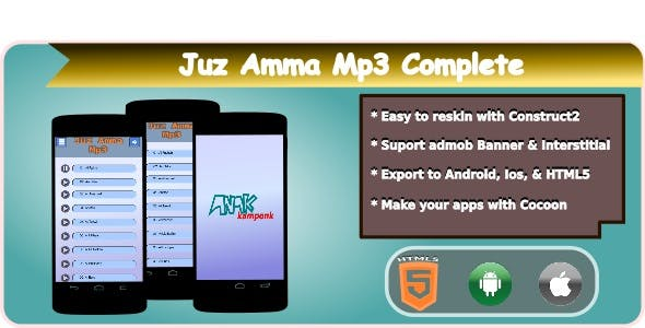 Juz Amma Mp3 HTML5 Mobile Applications + Admob