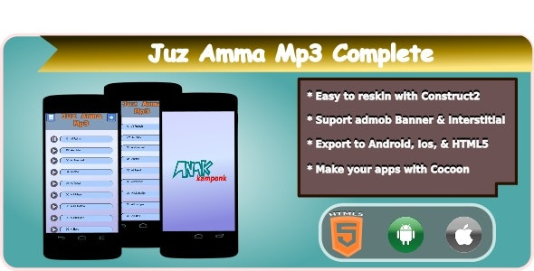 Juz Amma Mp3 HTML5 Mobile Applications + Admob - CodeCanyon Item for Sale